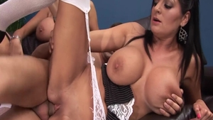 Real fucking along with big boobs slut Kerry Louise