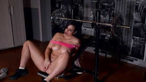 Masturbation together with busty female
