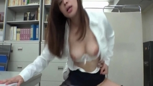Busty japanese pussy fuck in office