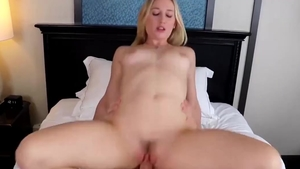 Small tits Riley Rey dick sucking