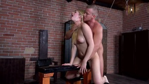 BDSM escorted by young blonde