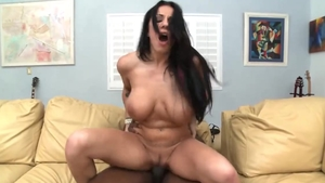 Busty Lylith Lavey interracial pounding video