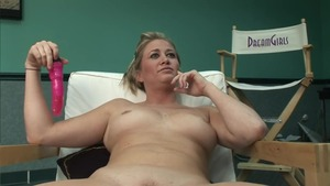 Solo huge tits blonde babe finds dick to fuck