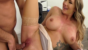 Naughty and big tits Cali Carter ass pounded