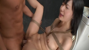 Tied up in the toilet super hot asian