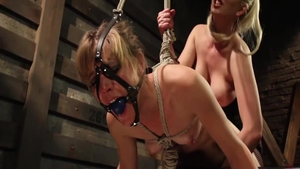 Mona Wales and Cherry Torn gagging