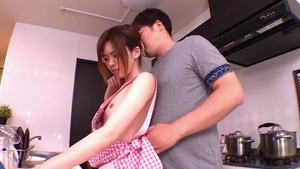 Very small tits japanese girl helps with sex with toys in HD