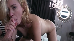 Erotic and young Haley Reed sucking dick