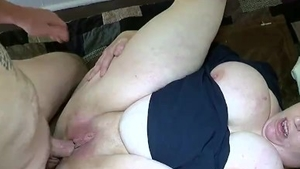 Rimjob with large boobs amateur
