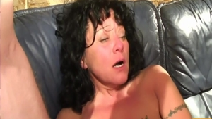 Hard rough sex along with huge tits MILF
