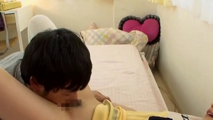 JAV in uniform asian college student MMF