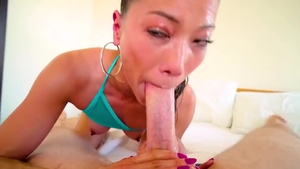 POV plowing hard together with Lily Ocean