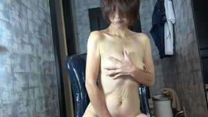 Uncensored masturbation along with japanese mature
