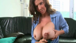 Horny american chick June Summers experience cum in mouth