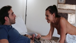 Young babe Aidra Fox in panties pussy eating
