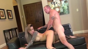 Inked big ass babe Christy Mack gonzo pussy eating in HD