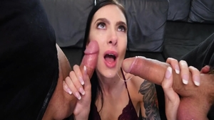 Very hawt Marley Brinx cock sucking