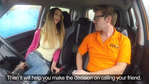 Ryan Ryder in company with very hawt Stella Cox in car