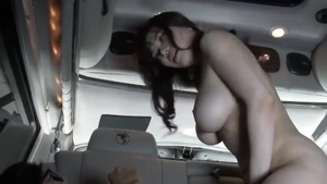 Korean Anri Okita female orgasm in the bus HD