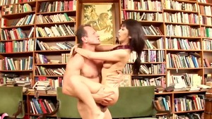 Young couple plowed hard
