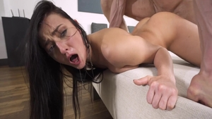 Hawt babe Katy Rose raw doggy fuck
