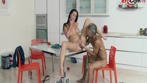 Erotic german stepmom bends to get fucked at the casting