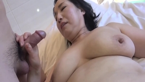 Chubby japanese MILF enjoys greatly gonzo the best sex