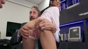 Nailed rough with glamour Emily Willis plus Mick Blue