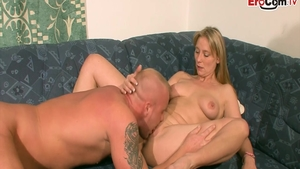 Very cute german housewife likes nailed rough in HD