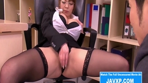 Humping in office big boobs asian in stockings