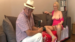 Hard ramming in the company of busty stepmom