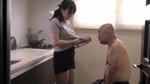 Pussy fucking together with japanese stepmom