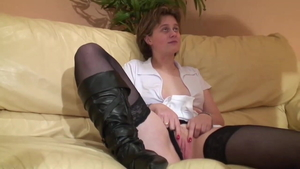European fucked anal during interview in HD