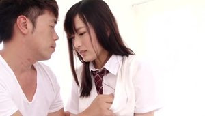 Hard pounding in company with exotic chick japanese slut
