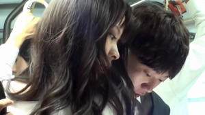 Voyeur asian gets plowed in the bus