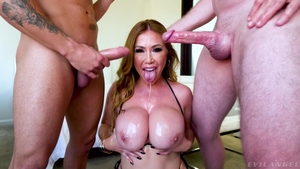 Ramming hard with large tits mature