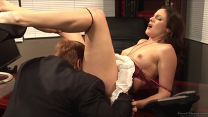 Hottest MILF finds dick to fuck in office HD