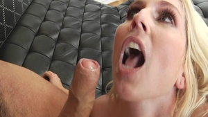 Lustful blonde haired Christie Stevens enjoys hardcore sex