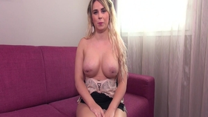 French handjob on the couch