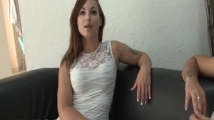 Charming french supermodel pussy fucking on the couch
