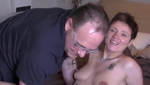 Young brunette blowjobs flashing in HD