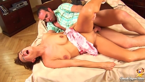 Pussy fucking together with huge boobs stepmom
