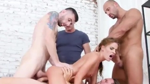 Receiving facial cum loads compilation in HD