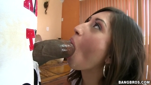 Wild brunette goes in for POV nailed rough at the castings HD