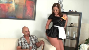 Fucking hard together with french maid Susanna White