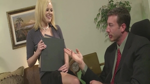 Seduced in office together with large tits secretary