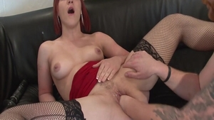 Passionate french chick double penetration