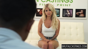 Plowing hard escorted by tattooed blonde Madelyn Monroe
