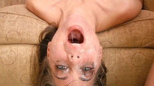 Hard pounding with Maddy O'Reilly next to Riley Reid