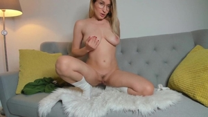 Solo big tits amateur in the underwear rammed hard